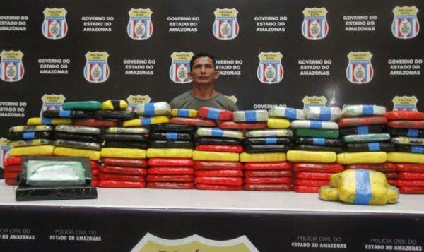 Marinheiro é preso com cocaína avaliada em R$1,5 milhão