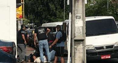 Grupo é preso quando tentava assaltar banco na Compensa; veja o vídeo