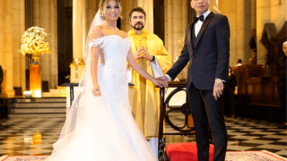 Casamento de Lexa e Guimê é marcado por tumulto e confusão em igreja