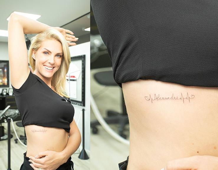 f159cebe5bc6b Ana Hickmann faz tatuagem em homenagem ao filho e ao marido  confira