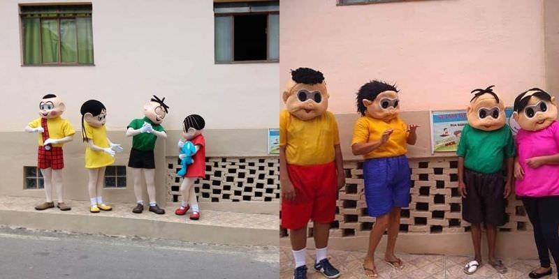 Turma Da Mônica Original Visita Escola Após Versão Humilde