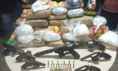 Grupo é preso com sete armas e 80kg de drogas em Manaus