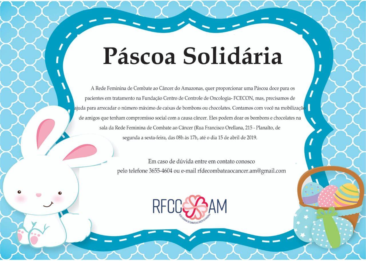 Páscoa Solidária Levará Acolhimento A Pacientes Com Câncer