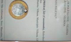 Jovem de 19 anos é preso por ter furado moeda de R$ 1 real