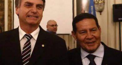 Em áudio, Bolsonaro estimula ataques de aliados ao general Mourão