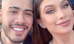 Flavia Pavanelli e Kevinho reatam com 'beijão' no casamento de Carlinhos Maia
