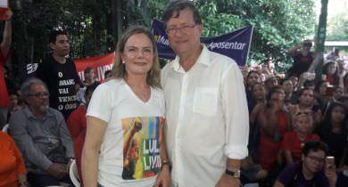 """Zé Ricardo será próximo prefeito de Manaus"", crava Gleisi Hoffmann"