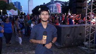 Em Manaus, protesto contra reforma da Previdência reúne multidão no Centro