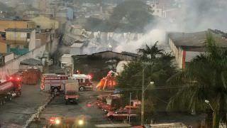 Incêndio atinge depósito com doações da Casas André Luiz em São Paulo