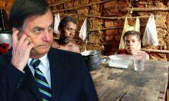 Bolsonaro nega 'fome', mas 15 pessoas morrem por dia de desnutrição