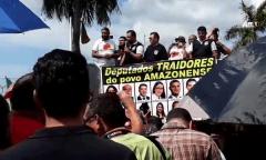 Servidores, revoltados com Wilson Lima, param atividades na quarta-feira