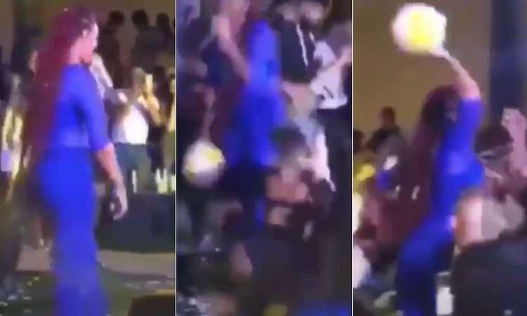 Ludmilla leva bolada durante show e decide revidar; vídeo