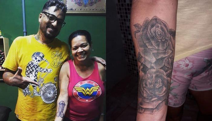 Dona De Casa Cobre Tatuagem De Pênis Com Flores Por Não