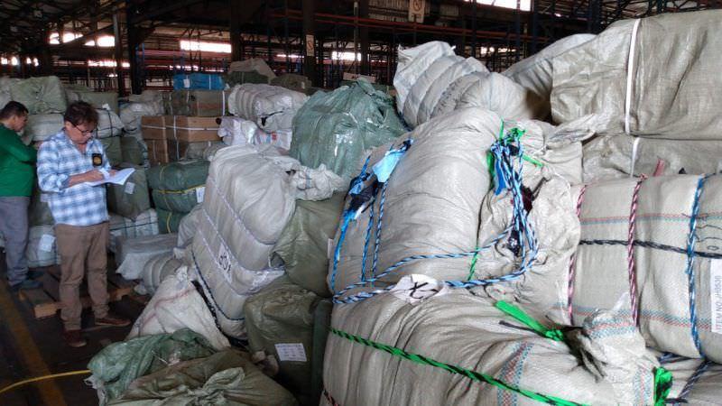 Mercadoria apreendida em porto privado é estimada em R$ 1 milhão