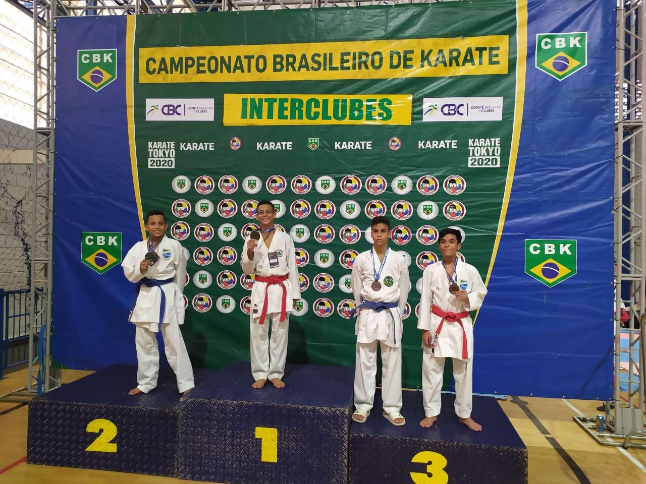 Amazonenses brilham e conseguem 15 medalhas no brasileiro de Karatê