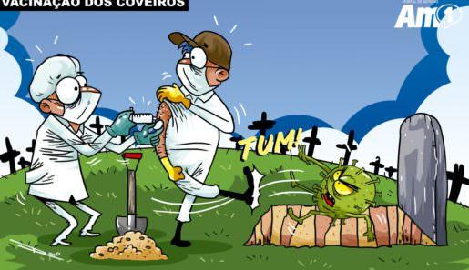 Aproximadamente 150 coveiros de Manaus começaram a ser imunizados contra a covid-19