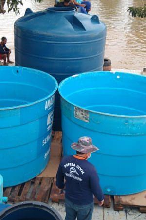 Estações de tratamento de água vão atender famílias afetadas pela cheia