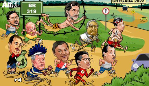 A corrida para as eleições de 2022, para o governo estadual e Senado já  começou. Coronel Menezes, Eduardo Braga, Plínio Valério, Arthur Neto, Omar Aziz e outras forças políticas já começaram suas 'caminhadas' pela BR-319.