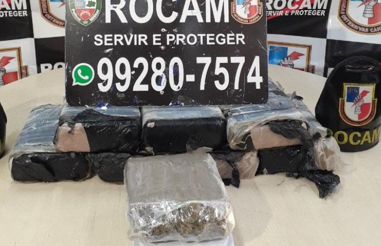 Casal abandona 12,5 quilos de drogas durante operação policial no bairro da Paz