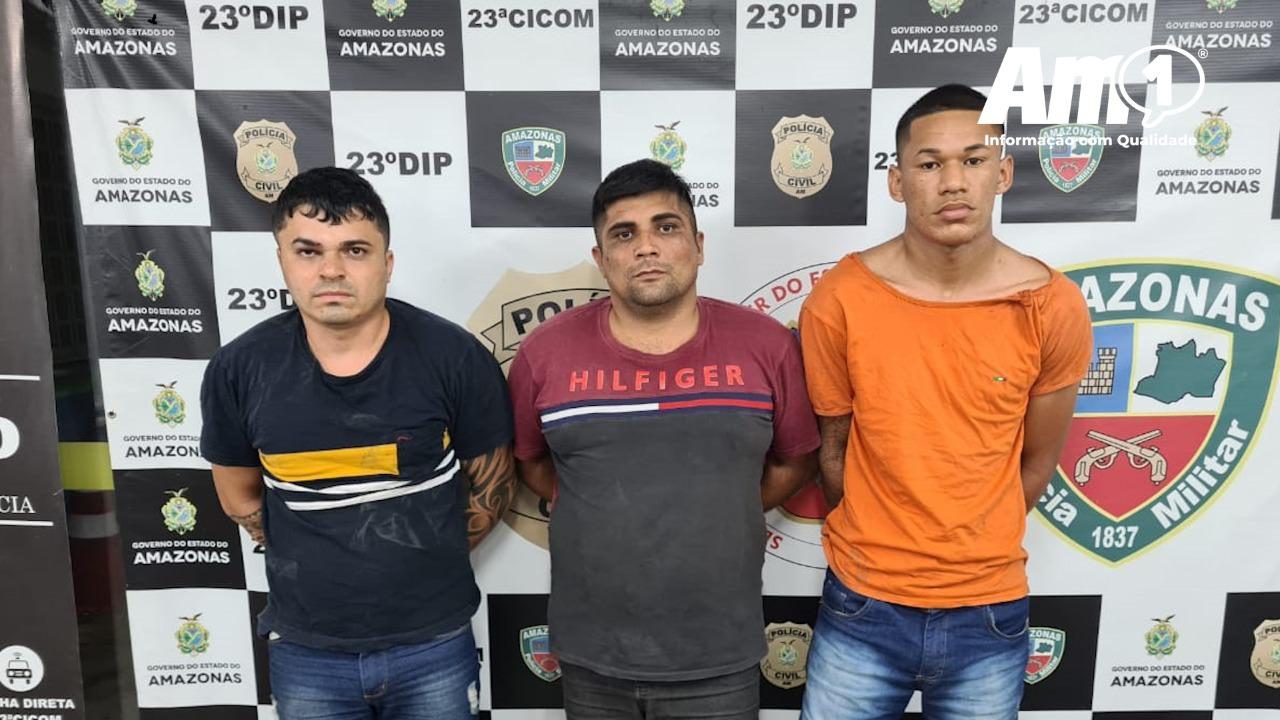 Trio é preso após cometer diversos assaltos em bairros de Manaus