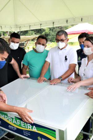 Iranduba recebe estrutura para realização de Feira de Produtos Regionais