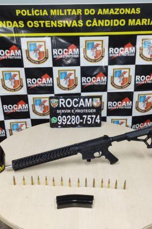 Homem é preso com fuzil na zona leste de Manaus