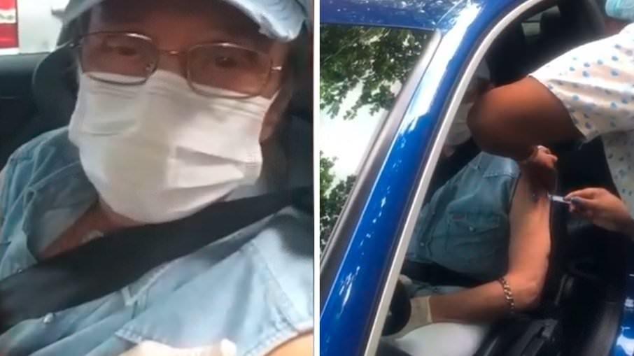 Roberto Carlos toma primeira dose da vacina contra covid-19