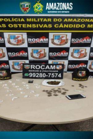 Trio suspeito por tráfico de drogas é detido em Manaus