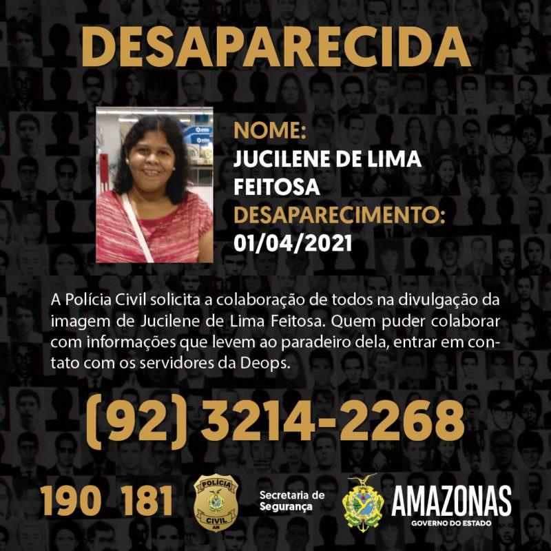 Família pede ajuda para localizar mulher desaparecida em Manaus