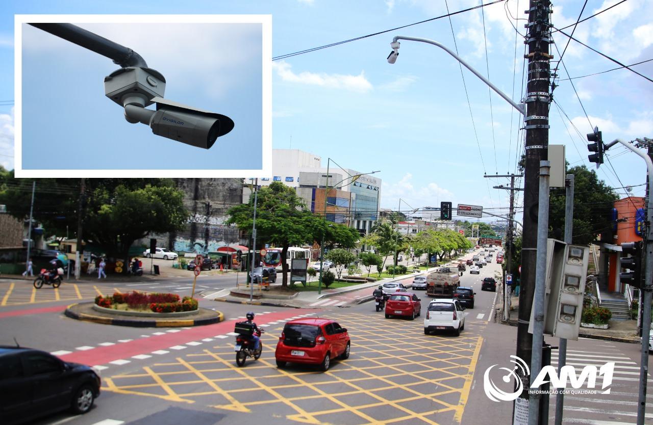 Em pouco mais de 100 dias, prefeitura instala apenas 20 câmeras em avenidas de Manaus