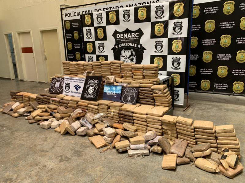 Droga avaliada em R$ 6 milhões é apreendida no Amazonas