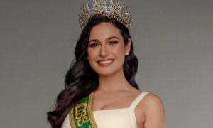 Julia Gama pede energia positiva de brasileiros para o Miss Universo
