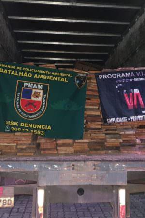 Motorista de caminhão é detido com madeira ilegal na Zona Centro-Oeste de Manaus