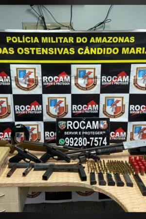 Arsenal de guerra pertencente a uma facção de Manaus é apreendido pela Rocam