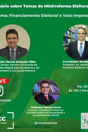 No AM, seminário virtual vai debater sobre minirreforma eleitoral 2021