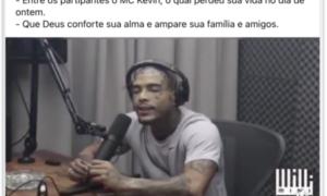 Bolsonaro lamenta morte de Mc Kevin nas redes sociais