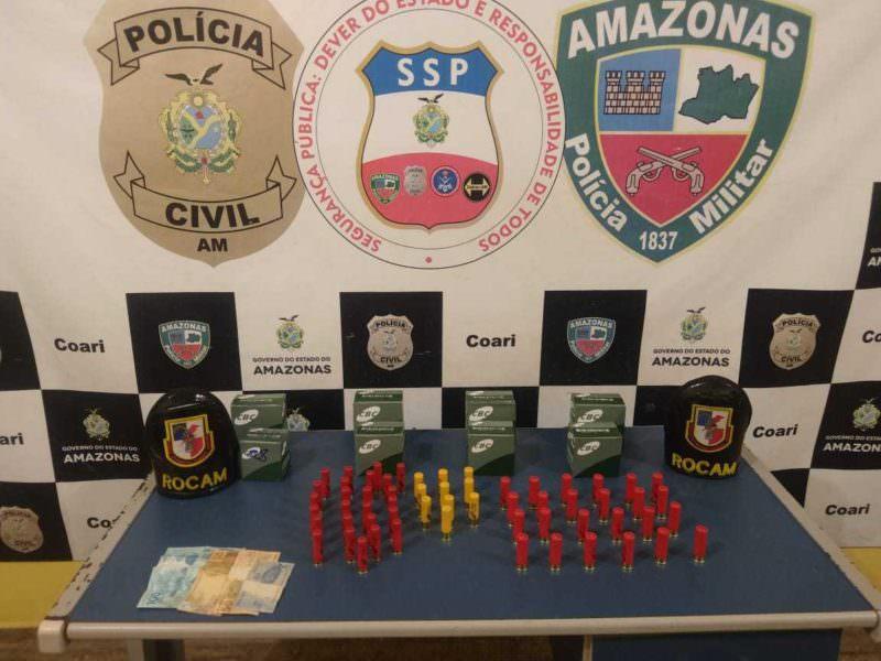 Homem é detido com mais de 200 munições no Amazonas