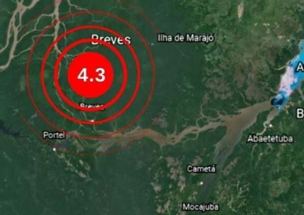 Terremoto de magnitude 4,3 é registrado no Pará