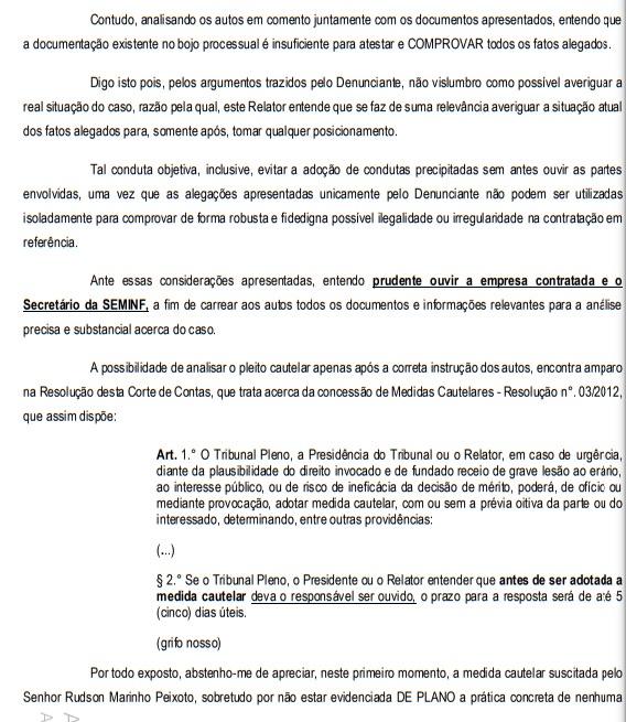 TCE aceita denúncia para Seminf explicar compra suspeita no valor de R$ 3,6 milhões em cimento feita pela Prefeitura de Manaus