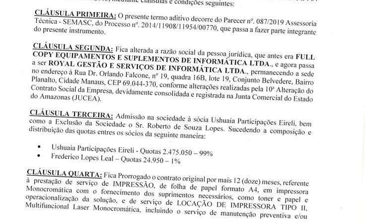 Prefeitura de Manaus renova contrato com empresa que já faturou mais de R$ 45 milhões apenas para os serviços de impressão